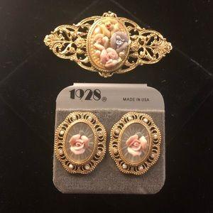 1928 Earrings & Broach!